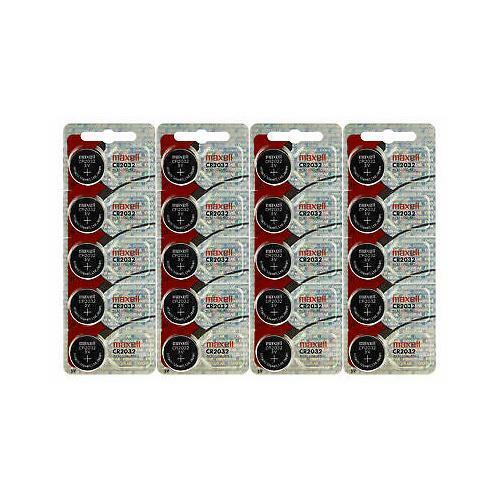 Maxell 20 X Genuine CR2032 3V Lithium Button/Coin Cells batteries ORIGNAL