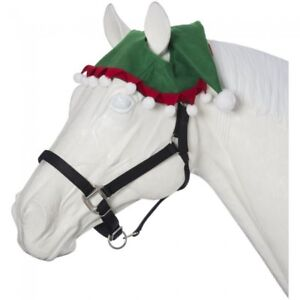 327f21bdcf0b8 2 EAR Holiday Christmas Horse Pony Green Red White ELF Hat Photo ...
