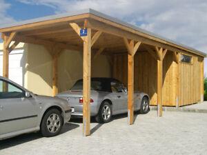 Details zu Carport 610x700cm 6x7m mit Abstellraum in Kiefer, Fichte,  Lärche, vom Hersteller