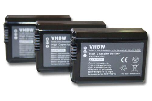 3x Batería 950mAh para Sony Cybershot DSC-RX10 DSC-RX10 IV III,