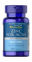 Puritan's Pride Zinc For Acne-100 Tablets Free Shipping