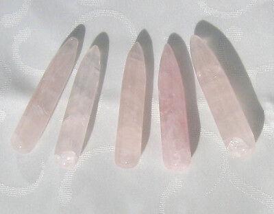 Massagestab aus Rosenquarz, 6.8 cm (Ma2)