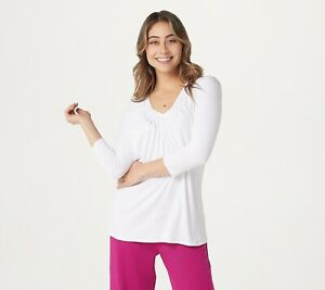 Laurie-Felt-Rayon-Made-From-Bamboo-Blend-Lattice-V-Neck-Long-Sleeve-Top-WHITE-S
