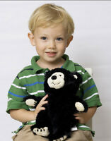 Warming Therapeutic Teddy Bear Small Black Warm Sleep Comfort Heat Therapy Toy