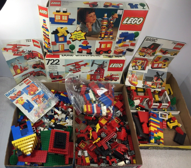 Lego 520, 720,  722,  Basic Vintage libros scatolaes Huge Lot Read Description see pic  risparmia fino al 70%