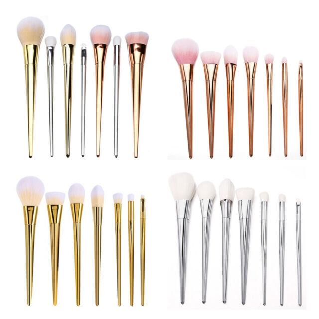 NEW 7pcs Makeup Brushes Set Powder Foundation Eyeshadow Eyeliner Lip Brush Tool