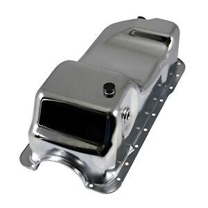 Chrome-Dual-Sump-Oil-Pan-Stock-Capacity-83-93-Ford-5-0-Mustang-302-SBF