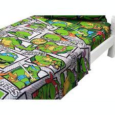 Teenage Mutant Ninja Turtles Bedding Boys Green Bedroom Bed 2pc Twin Sheet Set