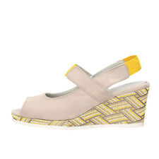 scarpe donna MARY COLLECTION 38 EU sandali beige giallo camoscio AF773-B