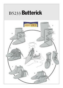 B5233-Sewing-Pattern-Renaissance-Historical-Footwear-Slippers-Boot-Moccasins