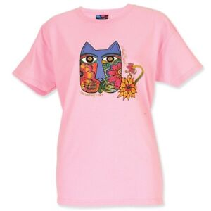 Laurel Burch Moroccan Mares Fitted Cut Short Sleeve Tee Shirt