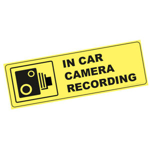 In Car Camera Recording Warning Stickers CCTV Sign Van Taxi Mini Cab(STKPN00097<wbr/>)