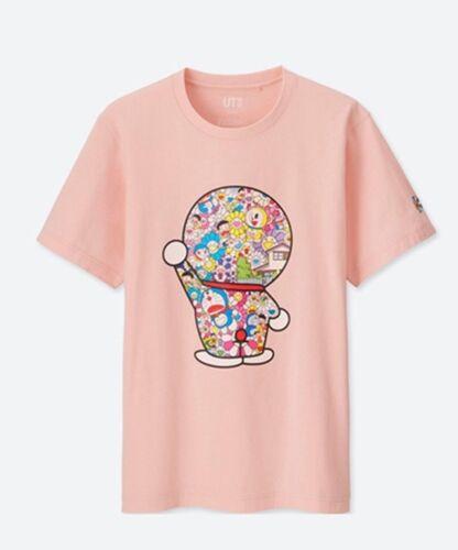 Doraemon x Takashi Murakami UNIQLO Beautiful Plush//Men/'s T-Shirt 100/% Genuine