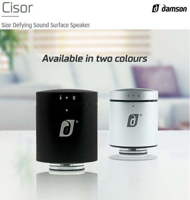 Damson Cisor Portable Wireless Bluetooth Speaker Incisor Diffusion Technology