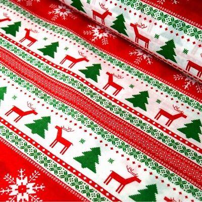 100/% Cotton Fabric Merry Christmas Santa Circles Festive  140cm Wide