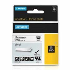 Dymo 18444 Rhino Permanent Vinyl Industrial Label Tape 12 Inch X 18 Ft