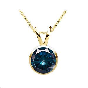 0-50-Karat-blauer-Solitaer-Diamant-Anhaenger-585-14K-Weiss-Rose-od-Gelbgold