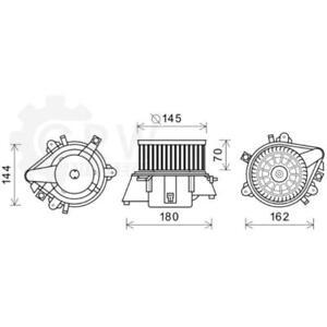 Electric Motor Heater Blower Fan Heater Blower Motor Fiat Punto Van Doblo Cargo