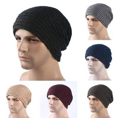 Knitted Wool Hat Mens Winter Cap Keep Warm Beanies Men Bonnet Plus Velvet Hats for Women