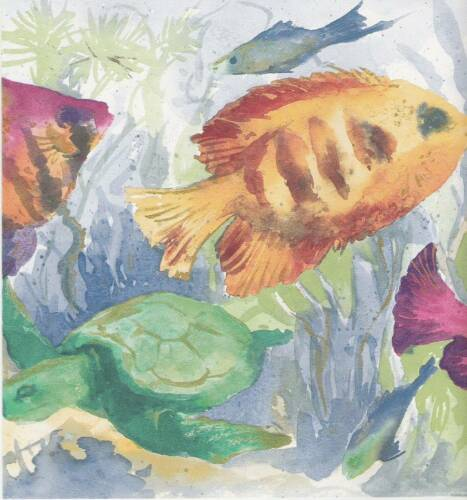 Tropical Fish Wallpaper Border Waverly 5500790