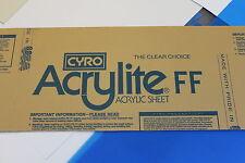 "ACRYLITE ACRYLIC PLEXIGLASS WHITE TRANSLUCENT PLASTIC SHEET 1/8""  X 12 "" X 18"""