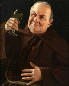 Art oil painting portrait old man holding wine cup for Painting while drinking wine