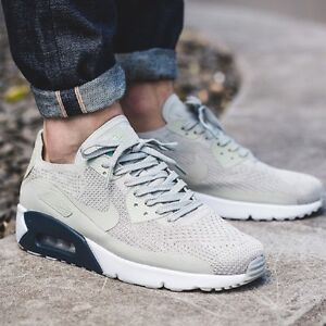 air max 90 grey flyknit