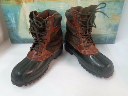 Steel Shank Brown Leather Duck Boots Women's Size 10