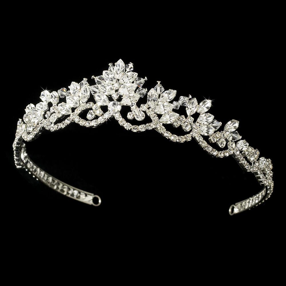 Wedding Vintage Bridal Tiara w/ Rhinestones & Swarovski Crystals for the Brides