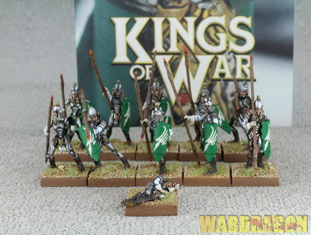 Kings of War bebederos Elf Lanceros tropa del armazón d8