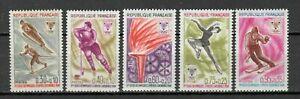 s24996-FRANCE-1968-MNH-Olympic-Winter-Games-Grenoble-5v