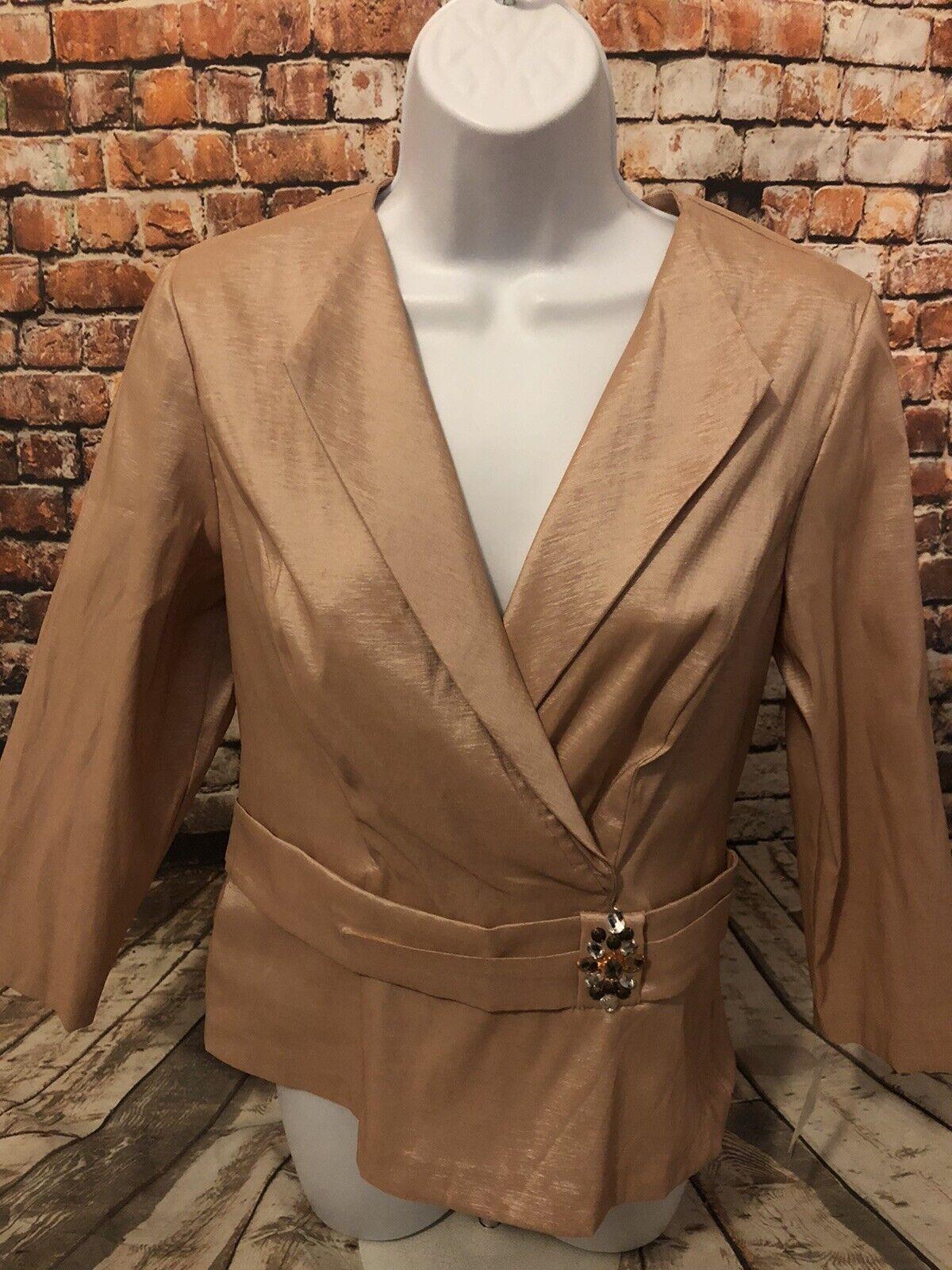 New Alex Evening Womens Jacket Dress Blazer Medium Evening Wear Party