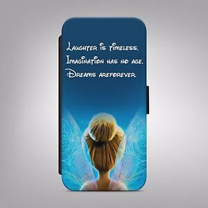 Tinkerbell disney quotes leather flip wallet phone case cover for image is loading tinkerbell disney quotes leather flip wallet phone case voltagebd Choice Image