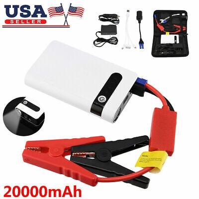Tragbarer Mini Slim 20000mAh Auto Starthilfe Batterie Power Bank 12V Motorverst/ärker Akkuladeger/ät Autobatteriestarter
