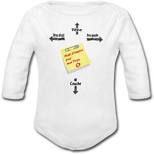 cadeau de naissance garçon fille Body Bébé Hamburger Mac Baby humour