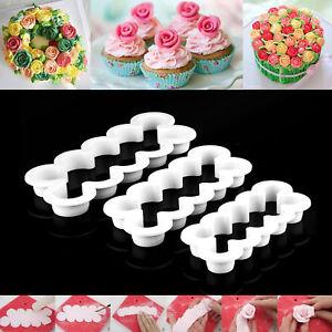 3er-Rose-Cutter-Fondant-Blumen-Ausstecher-Kuchenform-Kuchen-Form-Tortendeko