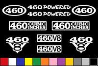 460 Ci V8 Powered 10 Decal Set Engine Stickers Emblems Fender Badge Decals