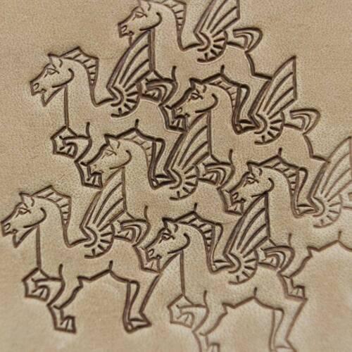 Stamp tool Pegasus  Leather crafting crafts brass saddle making stamps  #224