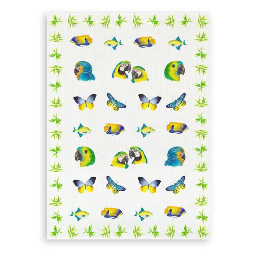 Tropic Kracht Geschirrtuch Format 50x70 Halbleinen bedruckt
