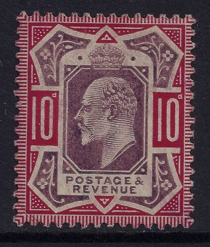 GB SG311 KEVII 10d DULL REDDISH PURPLE & CARMINE MINT HINGED MHMM