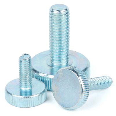 Zinc Plated Steel Knurled Thumb Screws Hand Grip Knob Bolts M3 M4 M5 M6 M8 M10