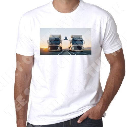 Jean Claude Van Damme VOLVO GLOBETROTTER camion pour homme 100/% coton NEUF