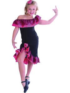 30a31171e1930 Chargement de l'image en cours Flamenco-costume-robe-fantaisie-fille-4-12- ans-