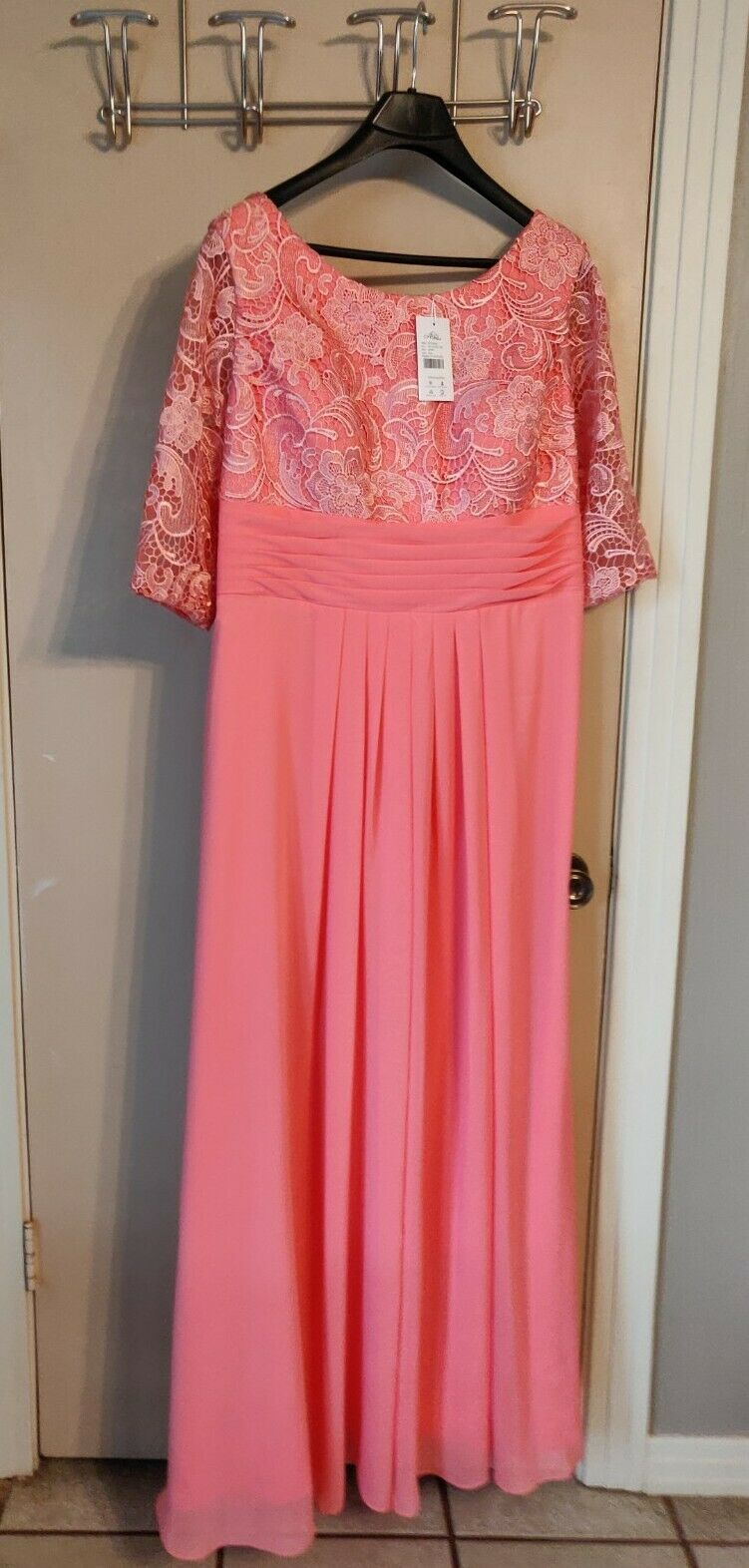damen Bridal Attire Größe 18W Coral Long Dress Zaxants