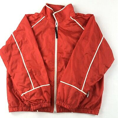 Details about VINTAGE Men Adidas Sz S FULL Zip SILKY RED WHITE TRACK Jacket NICE