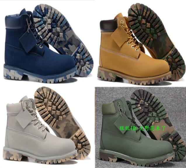 Cowboy botas al tobillo para Hombre Caliente Impermeable Clásico De Trabajo Con Cordones Nuevos Zapatos de motorista