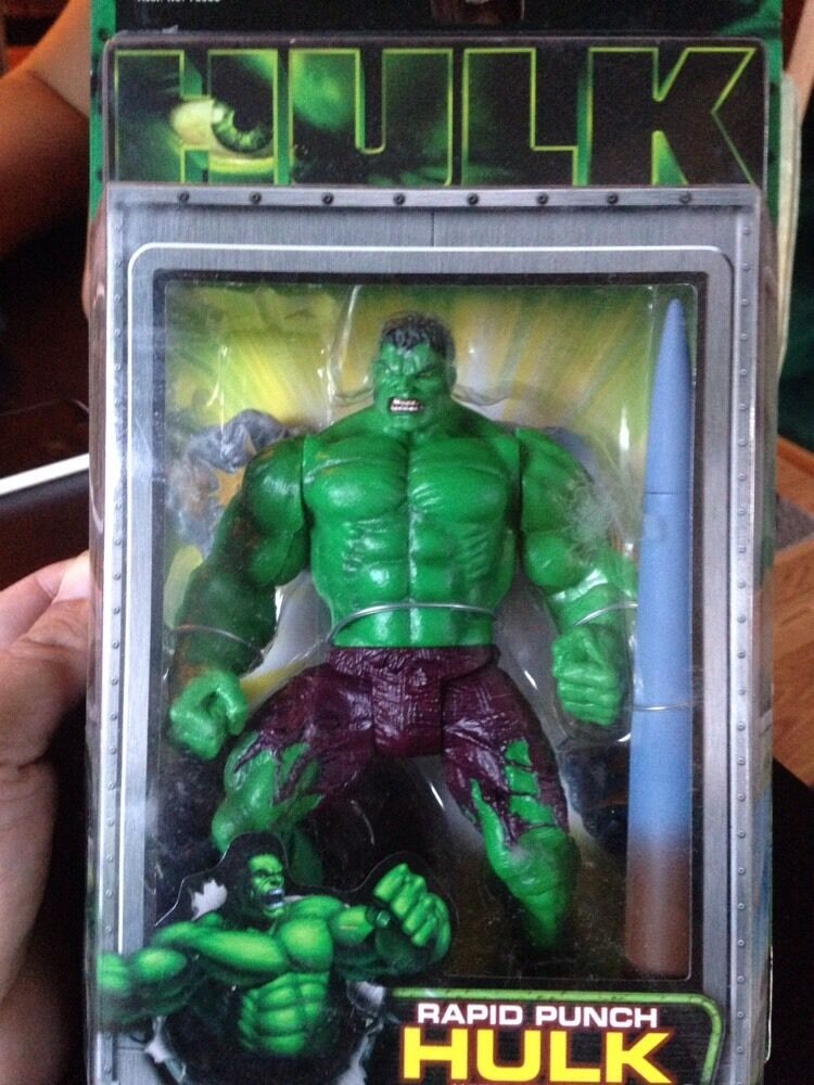 Hulk Motion Picture Rapid Rapid Rapid Punch Hulk 7 In Action Figure by Toy Biz f92ba2