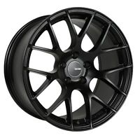 18x9.5 Enkei RAIJIN 5x114.3 +35 Black Rims Fits Veloster Mazda Speed 3