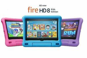 "10th Gen Newest Fire HD 8 Kids Edition tablet, 8"" HD display, 32GB, 2020 Version"