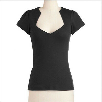 Lady Black Rockabilly Retro 50s Pin-up Top Shirt Sweetheat Design T Shirts